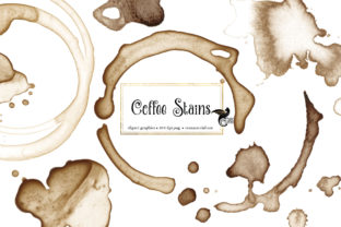 Print on Demand: Coffee Stains Clipart Graphic Illustrations By Digital Curio