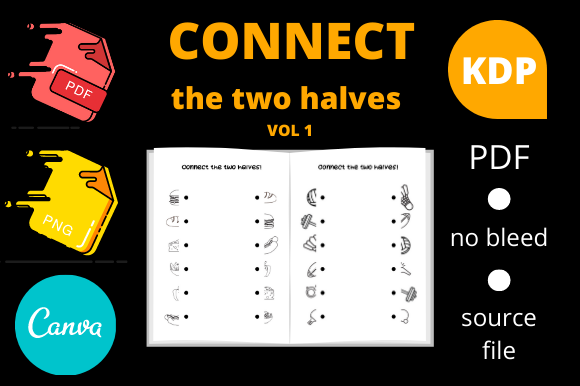 Print on Demand: Connect the Two Halves Volume 1 Graphic KDP Interiors By Dunkyshot