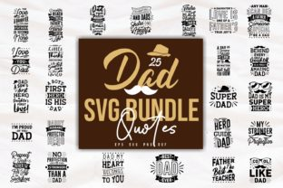 Print on Demand: Dad SVG Quotes Bundle Lettering Graphic Print Templates By Universtock