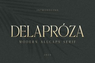 Print on Demand: Delaproza Serif Font By almarkhatype
