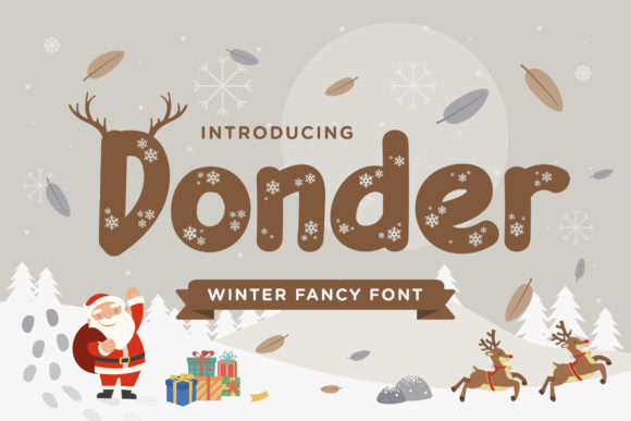 Print on Demand: Donder Display Font By TypeFactory
