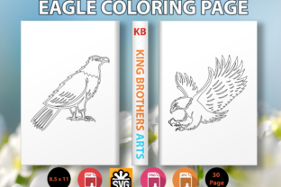 Print on Demand: Eagle Coloring Page Graphic Coloring Pages & Books Kids By King Brothers Arts