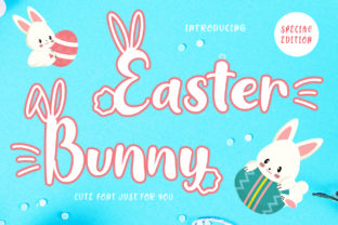 Print on Demand: Easter Bunny Display Fuente Por creaditive