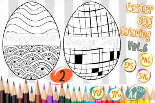 Print on Demand: Easter Egg Coloring Vol 6 Graphic 2nd grade By Kiang Stock Digiart