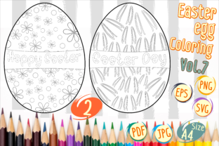 Print on Demand: Easter Egg Coloring Vol 7 Graphic 3rd grade By Kiang Stock Digiart