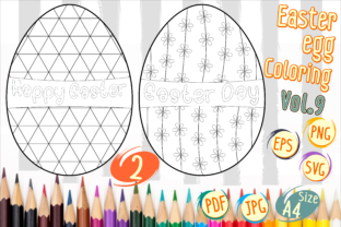 Print on Demand: Easter Egg Coloring Vol 9 Graphic 4th grade By Kiang Stock Digiart