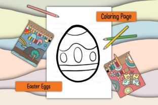 Print on Demand: Easter Eggs 18 Graphic Coloring Pages & Books Kids By 18 Curo caT
