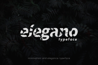 Print on Demand: Elegano Display Font By hakkamamr