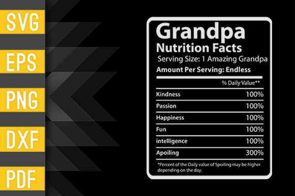 Fathers Day Gifts for Grandpa Nutrition Gráfico Crafts Por Designstore