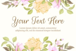 Print on Demand: Floral Banner Background Template Design Graphic Backgrounds By lukasdediz