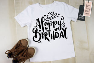 Happy Birthday Lettering Quotes SVG Graphic Crafts By dapiyupi