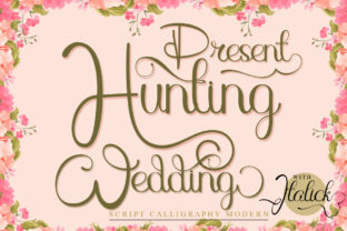 Print on Demand: Hunting Wedding Script & Handwritten Font By jehansyah251