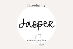 Print on Demand: Jasper Script & Handwritten Font By beccasbrushlettering
