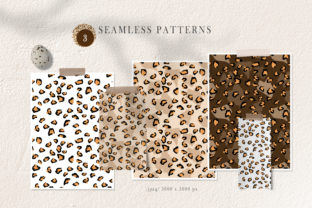 Print on Demand: Leopard Print Seamless Patterns Graphic Patterns By Tiana Geo