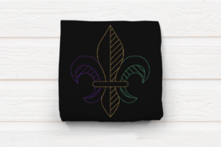 Linework Fleur De Lis Holidays & Celebrations Embroidery Design By DesignedByGeeks