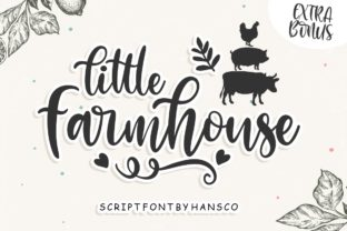 Print on Demand: Little Farmhouse Script & Handwritten Font By HansCo