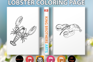Print on Demand: Lobster Coloring Page Graphic Coloring Pages & Books Kids By King Brothers Arts