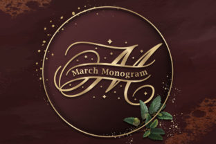 Print on Demand: March Monogram Decorativa Fuente Por Almeera Studio