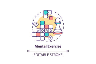 Print on Demand: Mental Exercise Concept Icon Graphic Icons By bsd studio