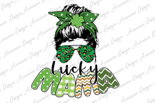 Print on Demand: One Lucky Mama Sublimation St. Patrick Gráfico Plantillas para Impresión Por Arinnnnn Design