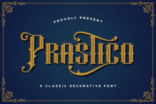 Print on Demand: Prastico Blackletter Font By StringLabs