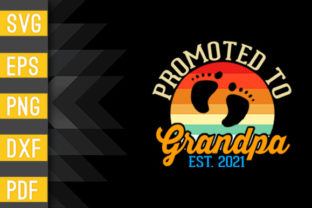 Promoted to Grandpa 2021 Vintage Retro Graphic Crafts By Designstore