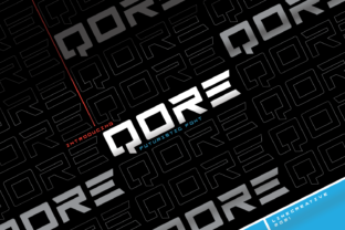 Print on Demand: Qore Display Font By Line creative