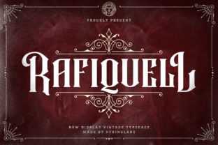 Print on Demand: Rafiquell Blackletter Font By StringLabs