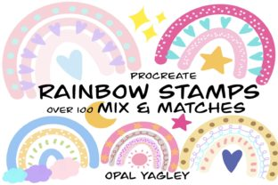 Print on Demand: Rainbow Procreate Stamps -Mix and Match Graphic Brushes By opal.yagley