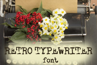 Print on Demand: Retro Typewriter Display Font By Ana Babi