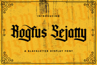 Print on Demand: Rogfus Sejatty Blackletter Font By StringLabs