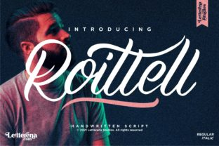 Print on Demand: Roittell Script & Handwritten Font By letterenastudios