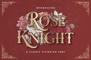 Print on Demand: Rose Knight Blackletter Font By StringLabs