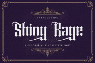 Print on Demand: Shiny Kage Blackletter Font By StringLabs