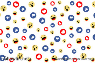Social Media Face Reaction Emojis Graphic Backgrounds By shawlin