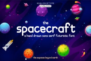 Print on Demand: Spacecraft Display Font By koalescetype