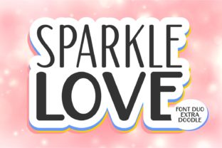 Print on Demand: Sparkle Love Display Font By Keithzo (7NTypes)