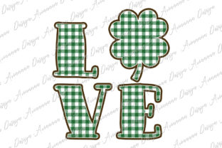 Print on Demand: St. Patrick Sublimation Love Clover Gráfico Plantillas para Impresión Por Arinnnnn Design