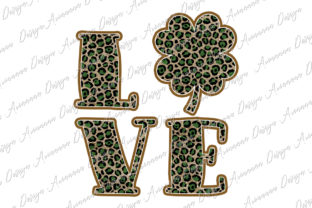 Print on Demand: St. Patrick Sublimation Love Clover Graphic Print Templates By Arinnnnn Design