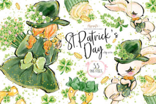 St.Patrick's Day Clip Arts Graphic Illustrations By Hippogifts