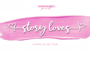 Print on Demand: Story Loves Script & Handwritten Font By aminmario
