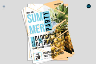 Summer Party Flyer V4 Graphic Print Templates By risegraph