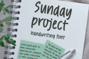 Print on Demand: Sunday Project Script & Handwritten Font By Jyllyco