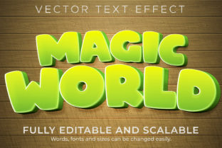 Print on Demand: Text Effect Cartoon Magic Text Style Graphic Layer Styles By NA Creative
