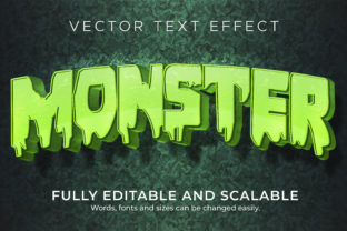 Print on Demand: Text Effect Cartoon Monster Text Style Graphic Layer Styles By NA Creative