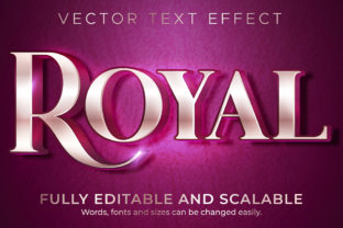 Print on Demand: Text Effect Metallic Royal Text Style Graphic Layer Styles By NA Creative