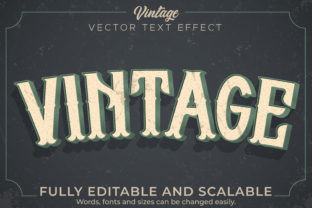 Print on Demand: Text Effect Retro Vintage Tag Text Style Graphic Layer Styles By NA Creative