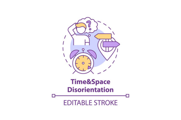 Print on Demand: Time and Space Disorientation Icon Graphic Icons By bsd studio