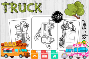 Print on Demand: Truck Coloring Pages for Kids Graphic Coloring Pages & Books Kids By Trend Color