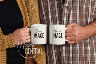 Two Couple's Coffee Glass Mug Mockup Graphic Product Mockups By Mockup Central